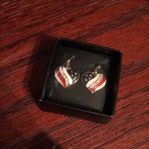 Independence Day earrings heart❤️🇺🇸